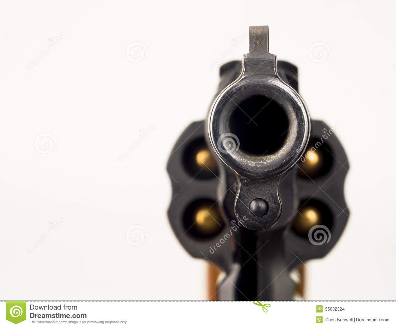38 Snub Nose Revolver Weapon Gun Pointed At Viewer Stock Images ...