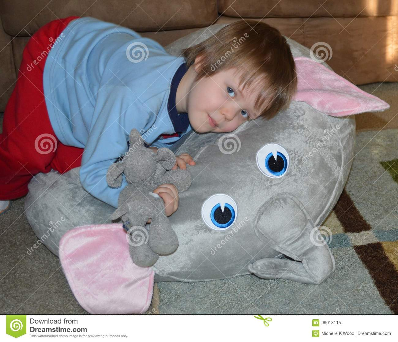 Snuggling Elephant Toddler