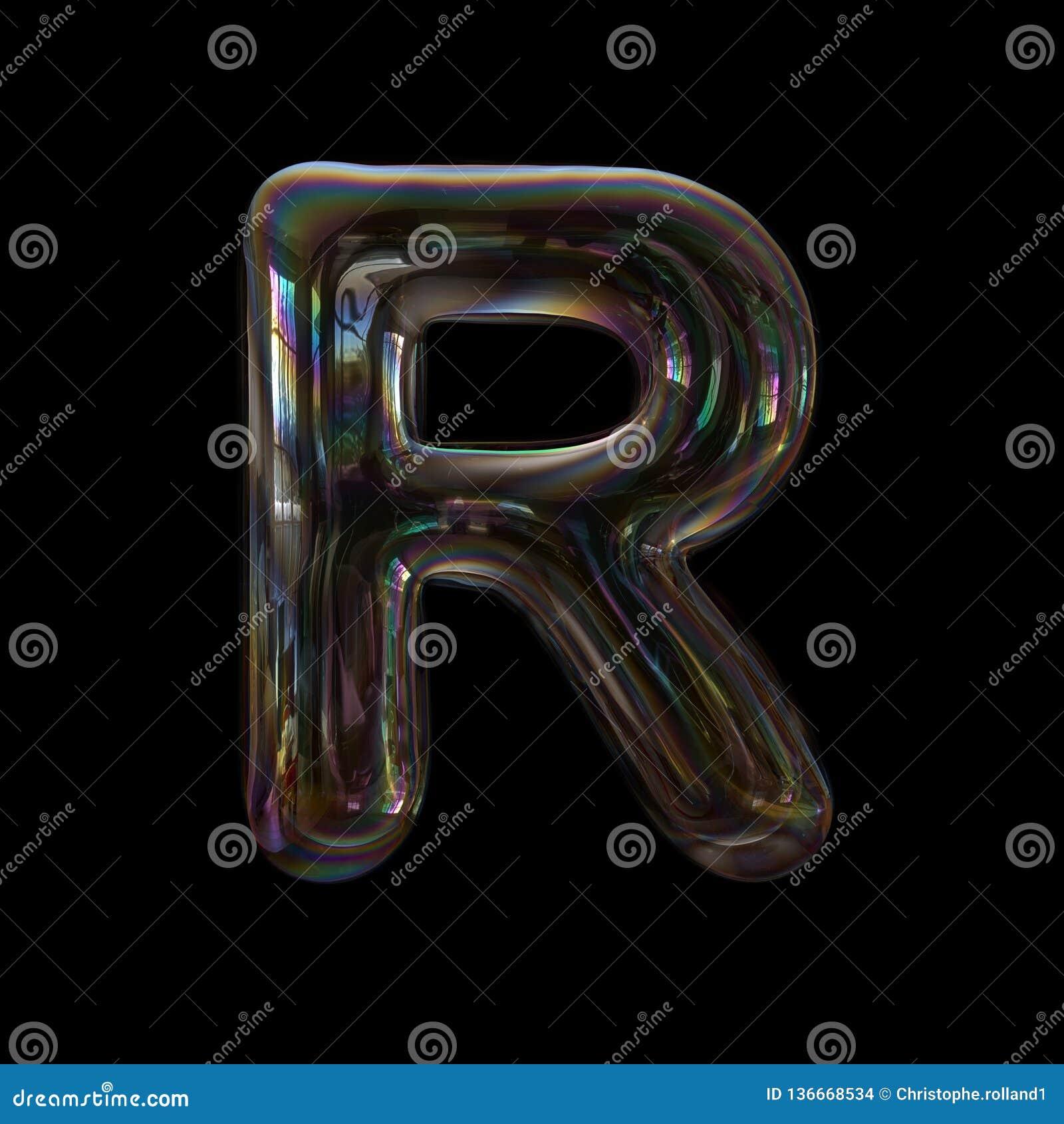 Uppercase 3d Transparent Font