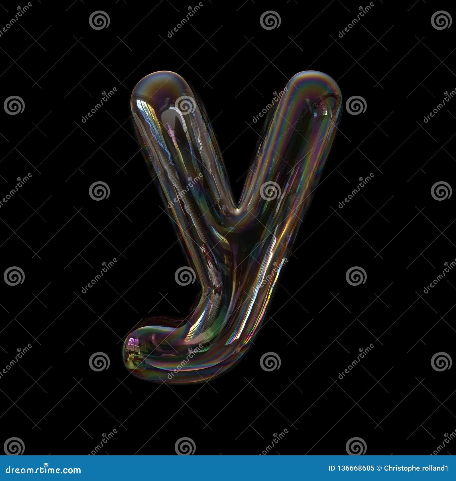 Lowercase 3d Transparent Font