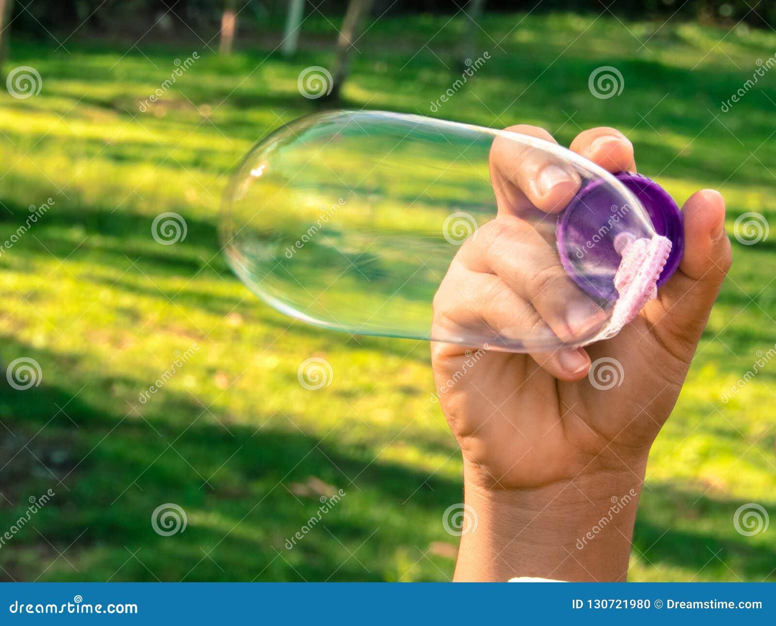Soap bubble in the park