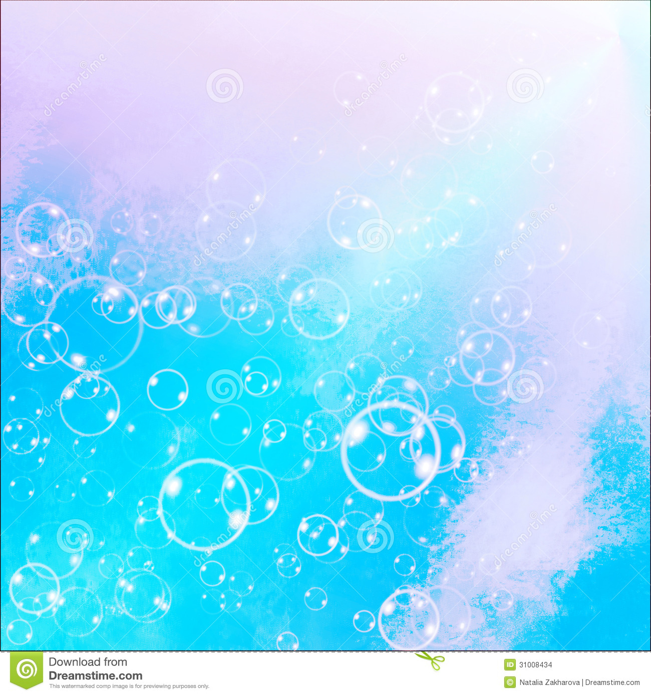 Soap Bubbles On A Blue Sky Background Stock Images - Image: 31008434