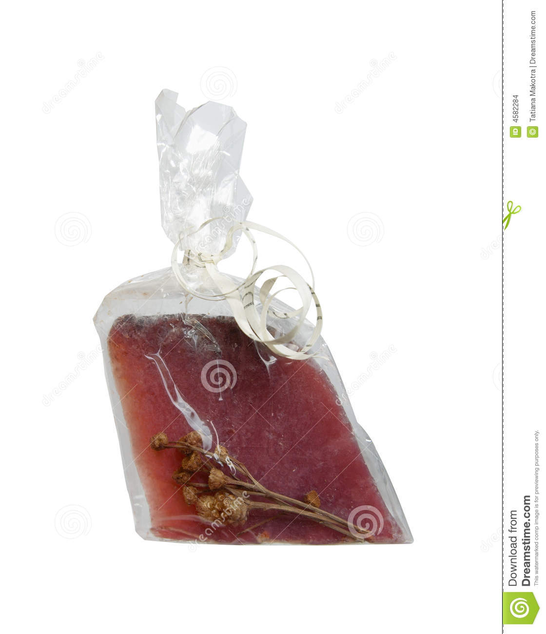 Soap In A Cellophane Wrapper Stock Photo Image Of