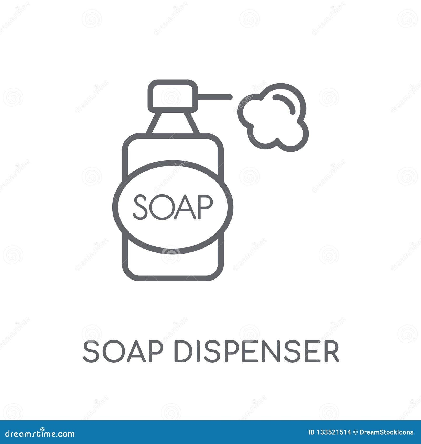 Dispense Mobili Moderne.Soap Dispenser Linear Icon Modern Outline Soap Dispenser