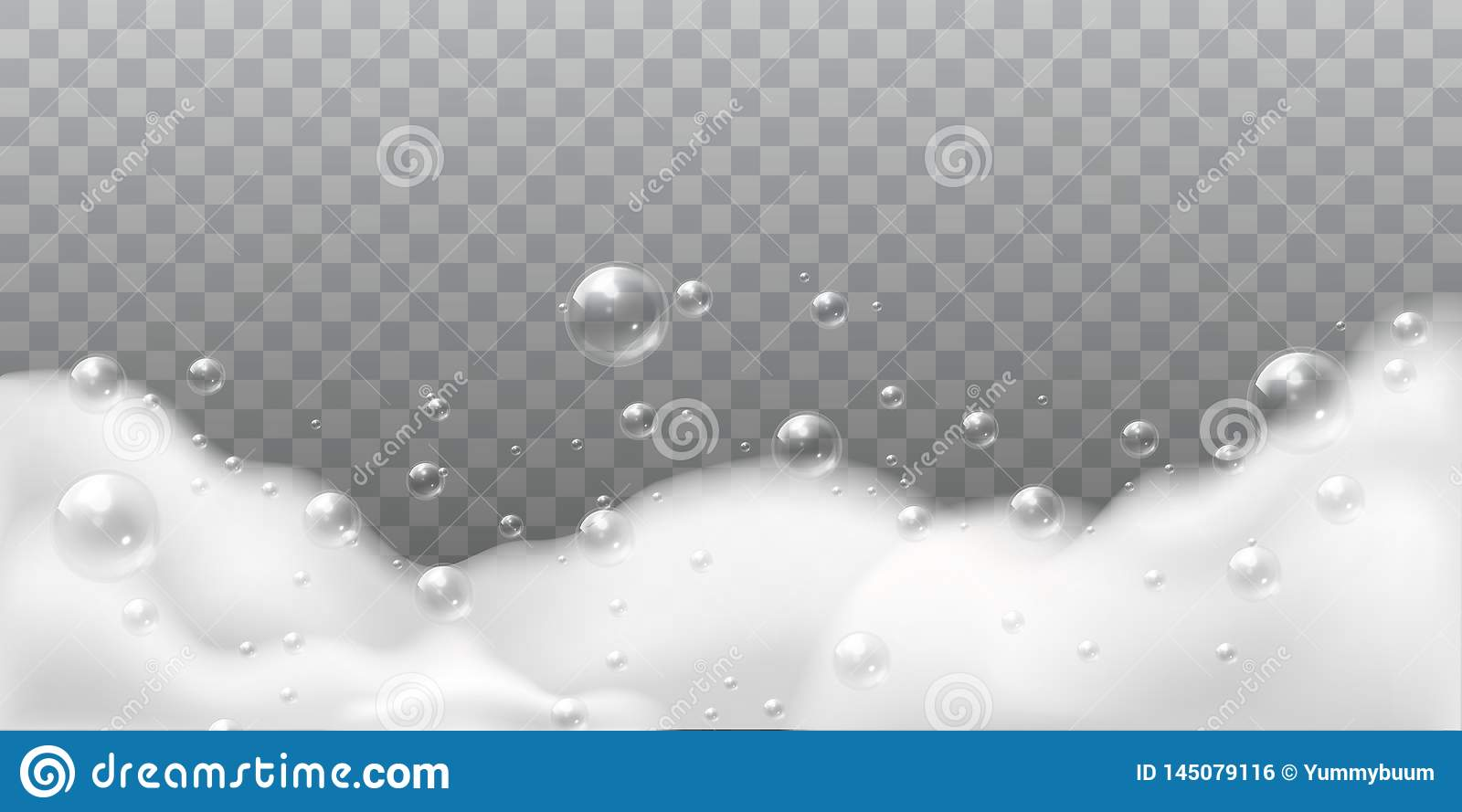 Soap foam. White bubbles of bath or laundry. Shampoo soap clean shiny bubbling. Washing hygiene detergent isolated