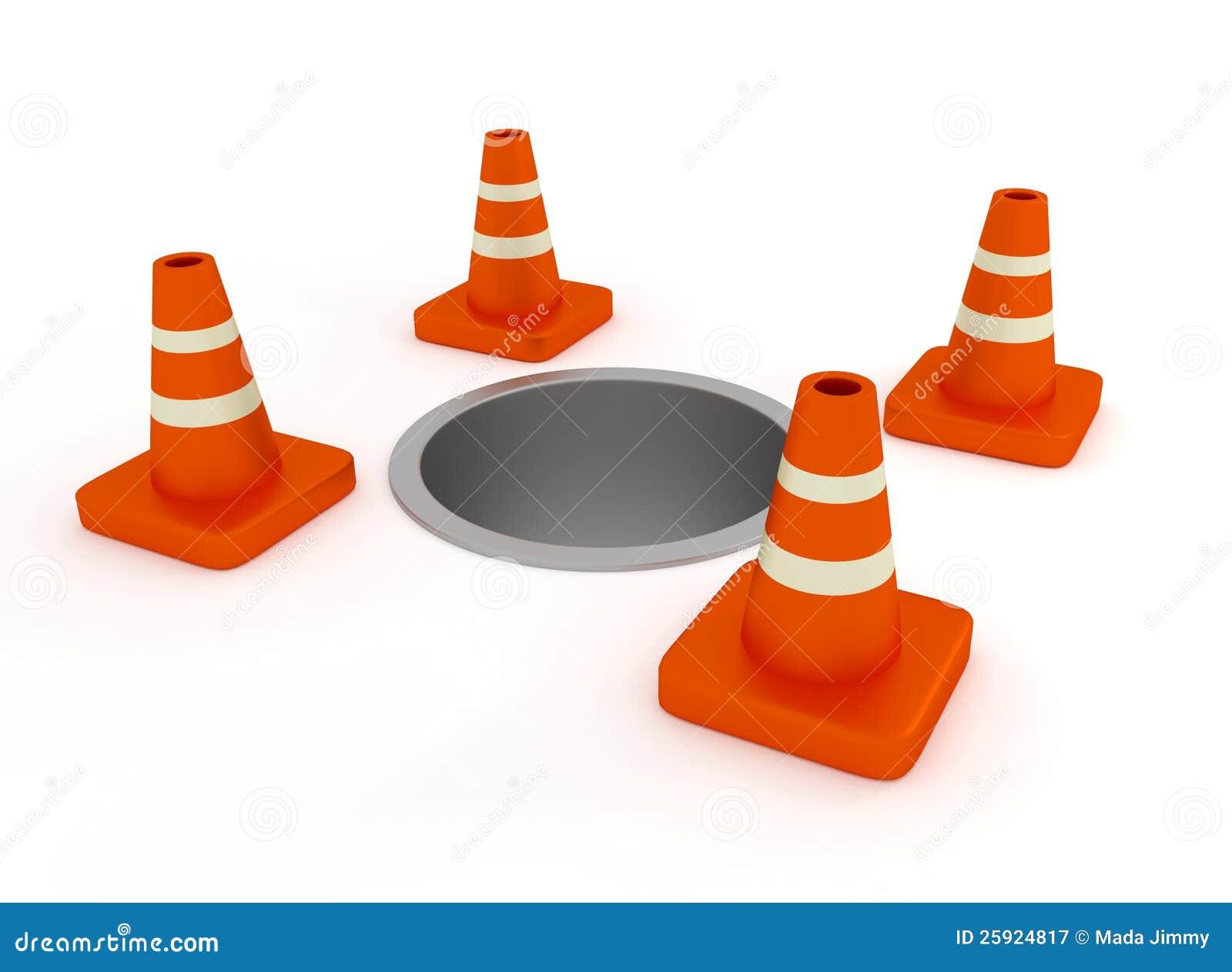 Sob o cone do tráfego da construção