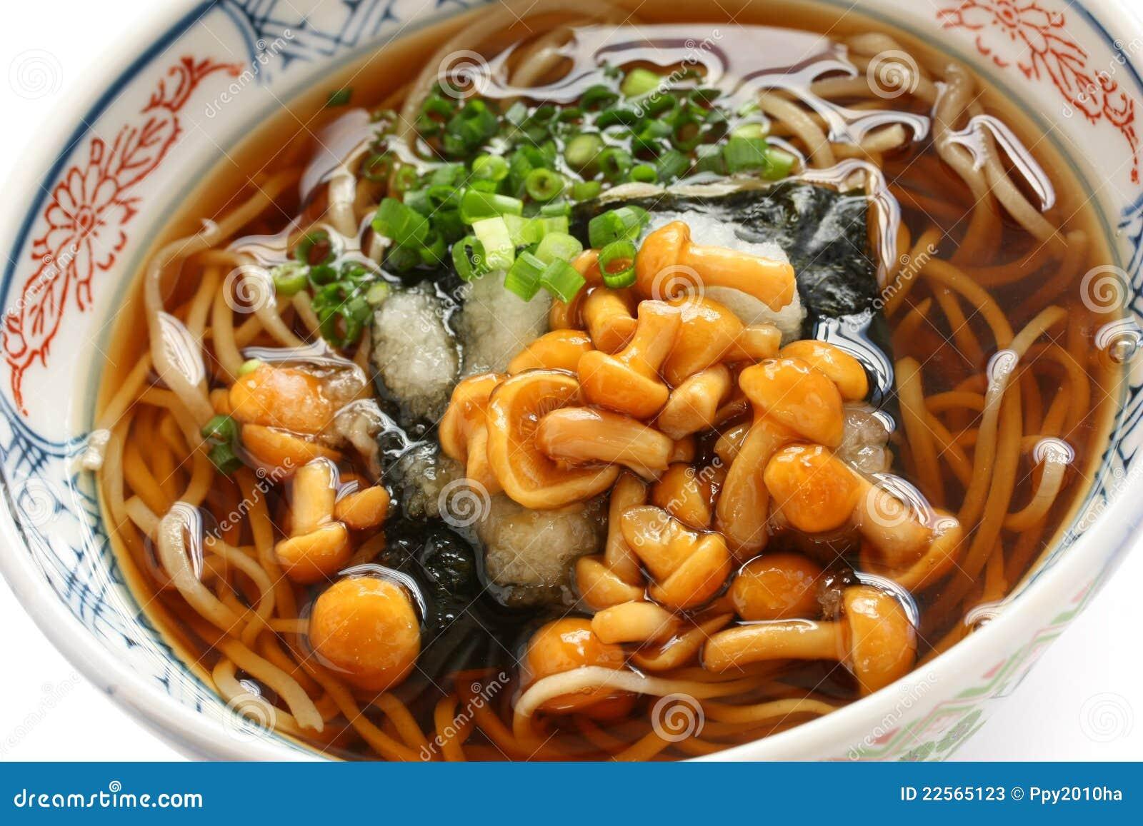 Soba de nameko cuisine japonaise de nouille de sarrasin for Cuisine japonaise