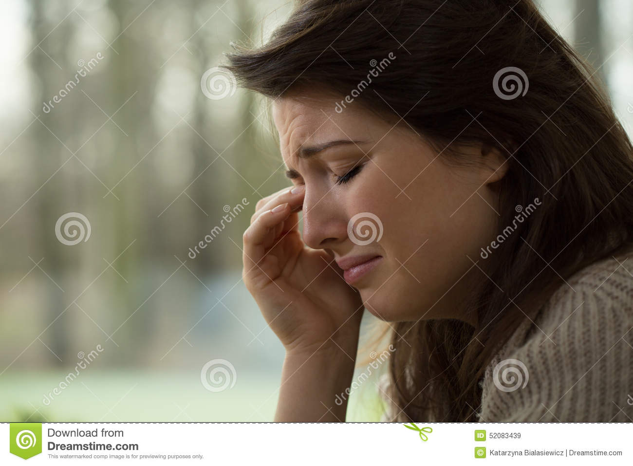 sobbing woman stock image image of pretty help patient 52083439
