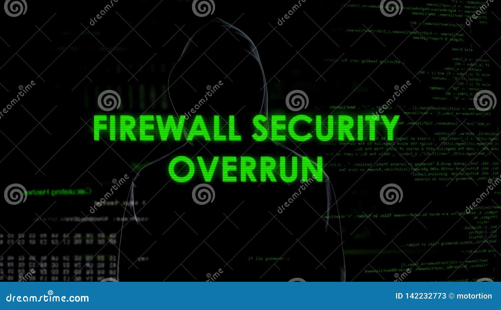 Sobrante de la seguridad del cortafuego, pirata informático que consigue el acceso a la privacidad, ataque de Internet