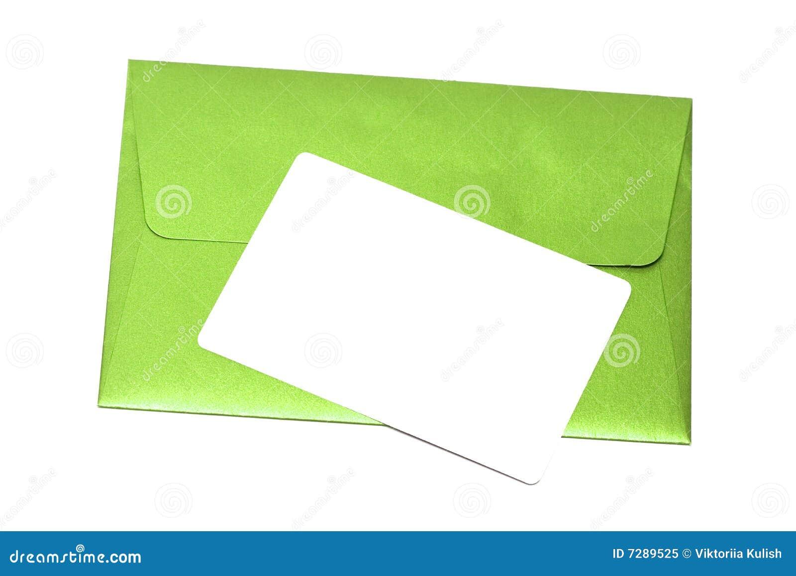 Sobre con la tarjeta congratulatoria