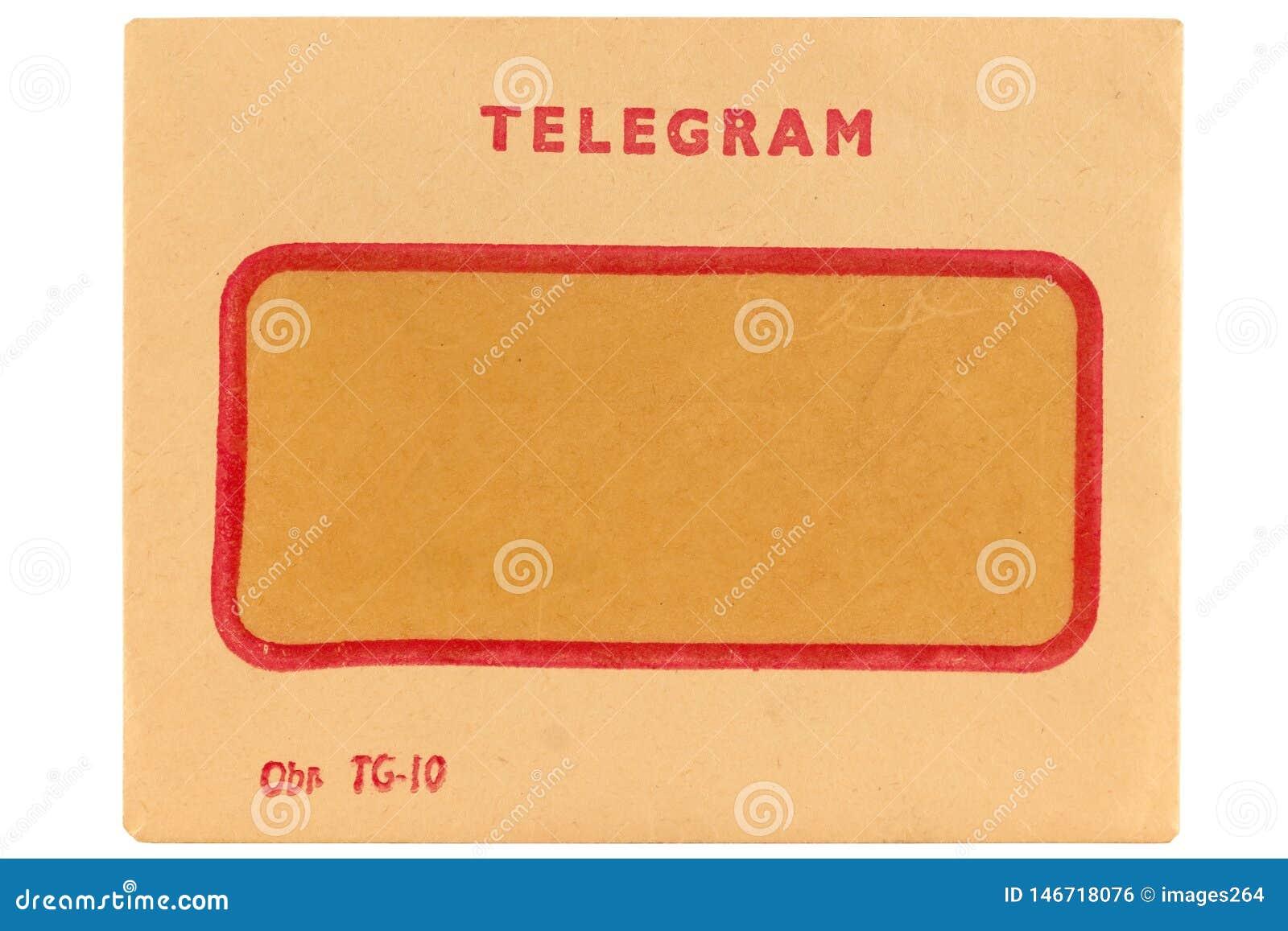 Sobre viejo del telegrama