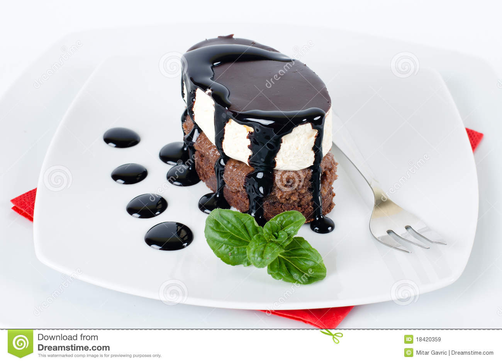 Sobremesa do chocolate
