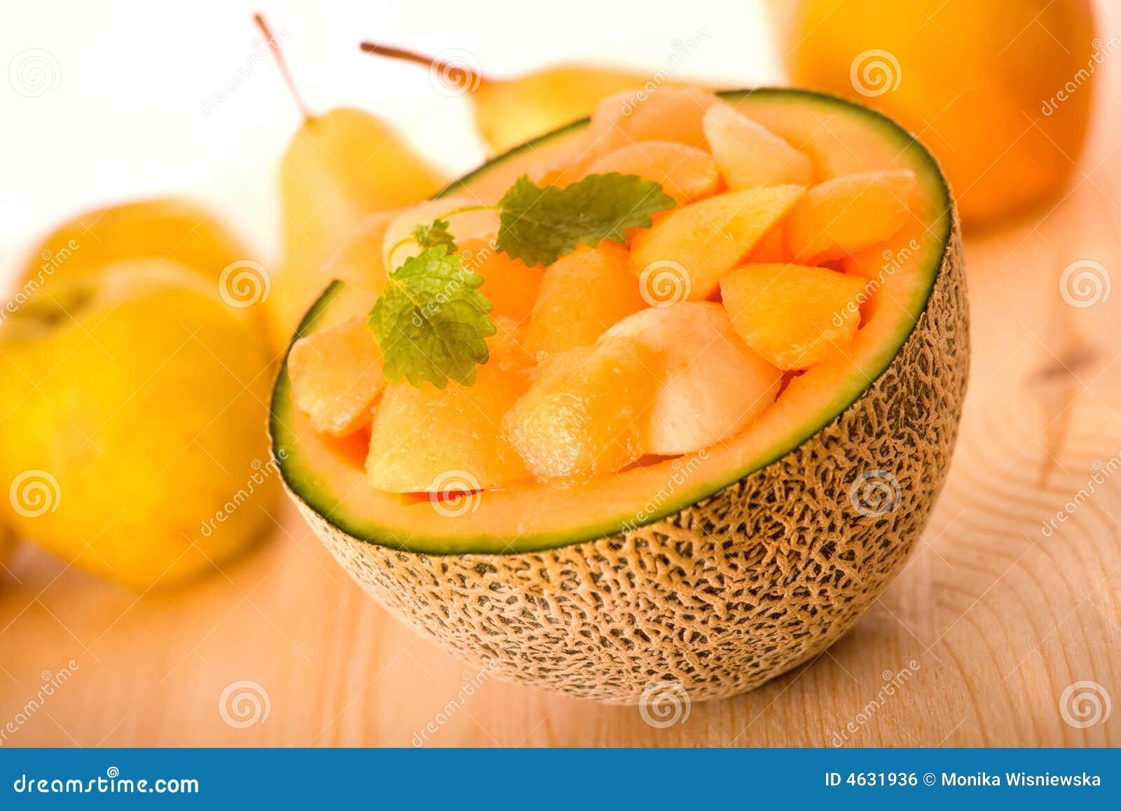 Sobremesa do melão do Cantaloupe