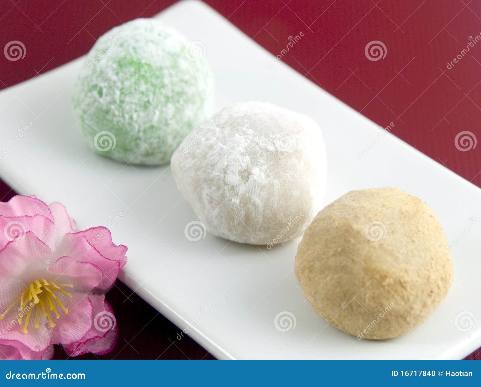 Sobremesa Japonesa Do Mochi Foto De Stock Imagem De