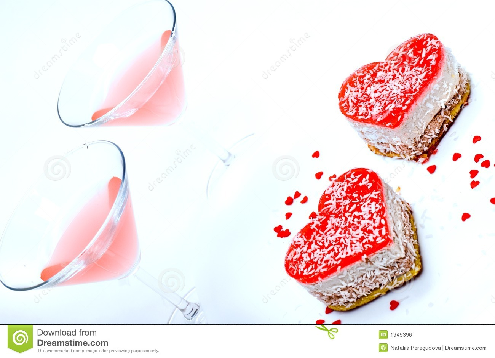 Sobremesa romântica para dois