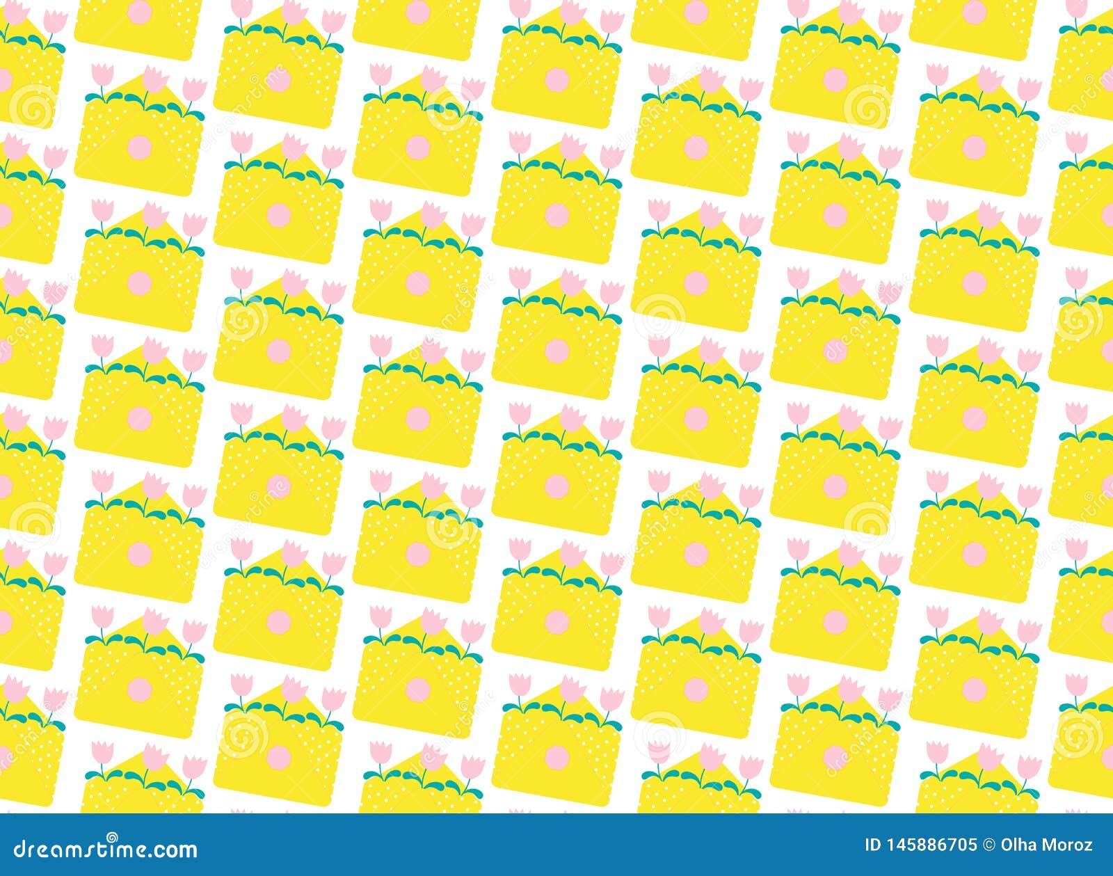 Sobres amarillos del modelo Ejemplo plano