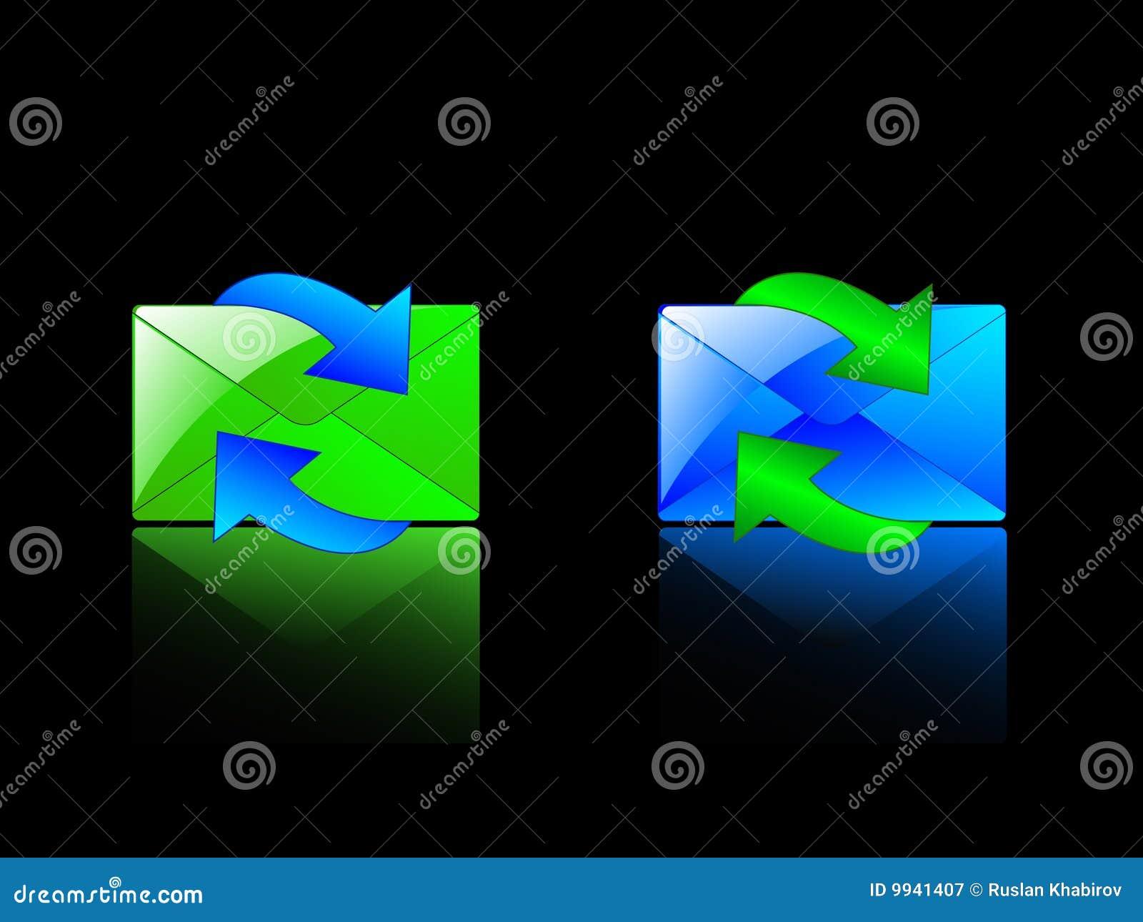 Sobres y flechas gráficos