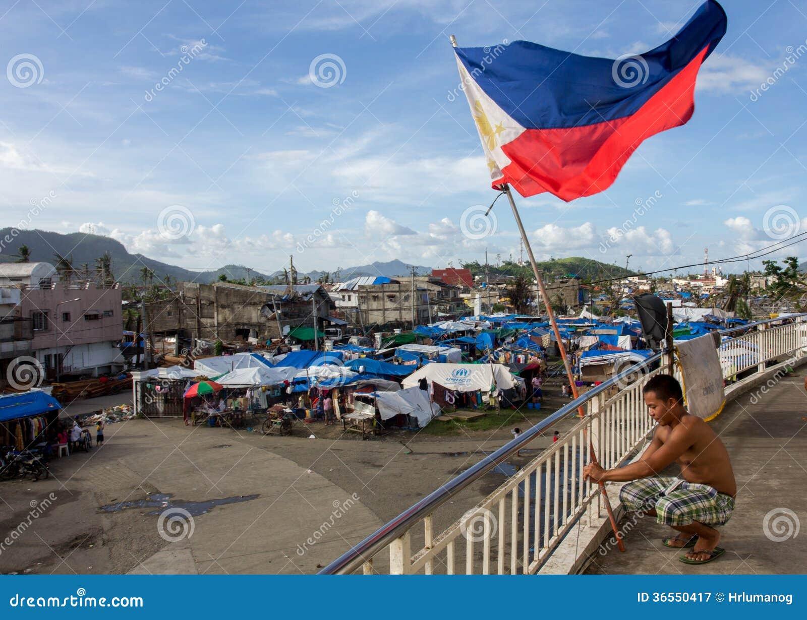 Sobreviventes de Haiyan do tufão