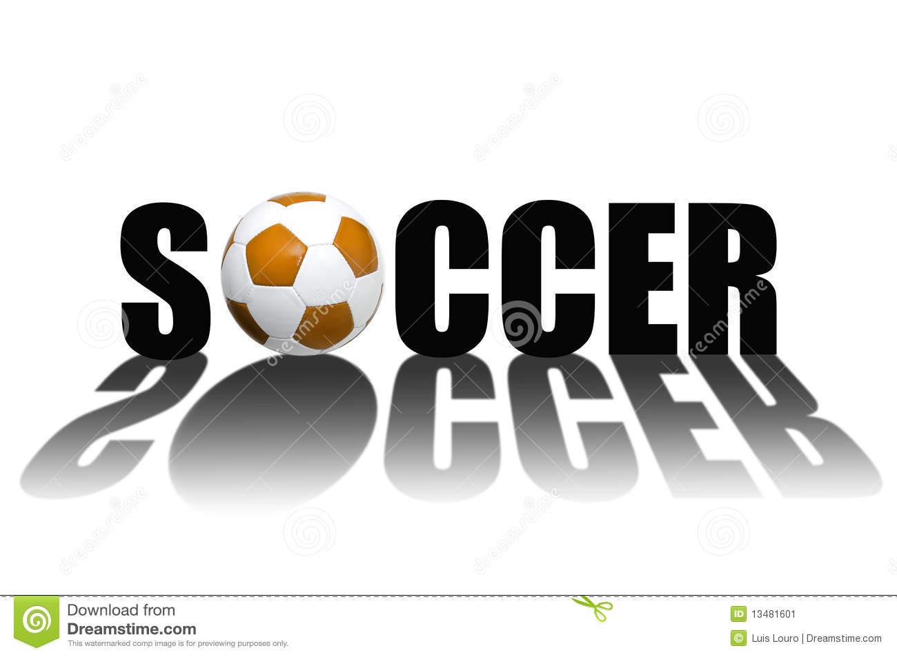 Soccer Words in Bubble Letters