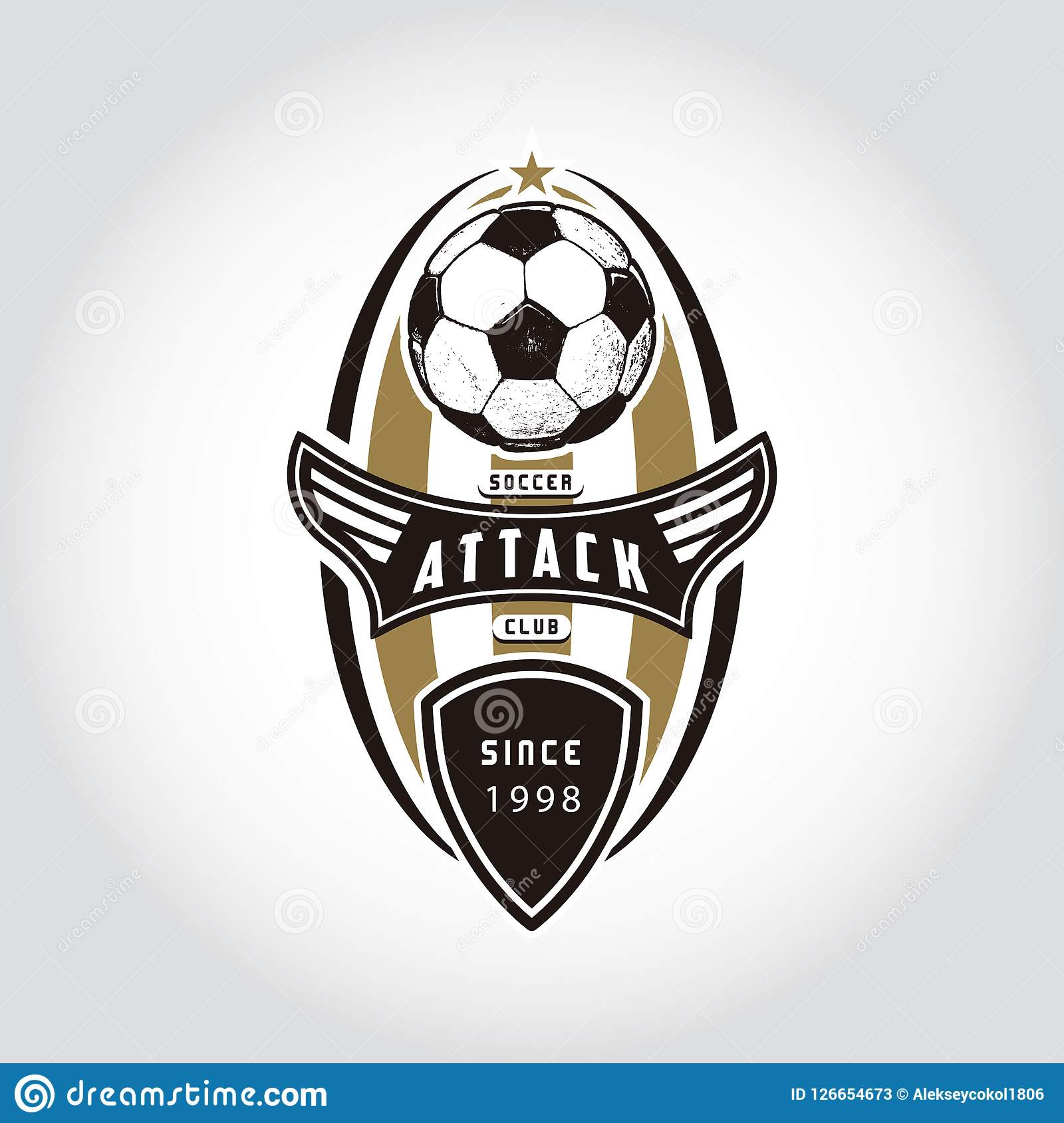 soccer badge logo stock vector illustration of american 126654673 https www dreamstime com soccer badge logo soccer badge logo handmade football ball sport team identity vector illustrations isolated white background image126654673