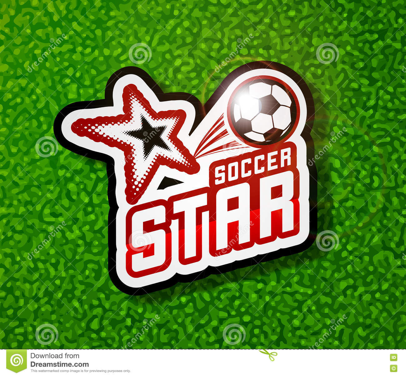 Soccer Badge Logo Template Football Design Stock Vector
