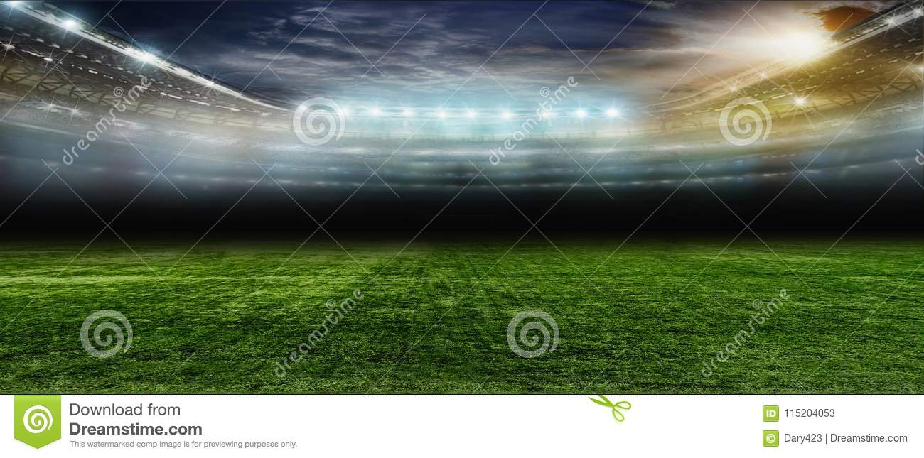 On The Stadium Abstract Football Or Soccer Backgrounds: Soccer Bal.football .. Stock Image. Image Of Competition