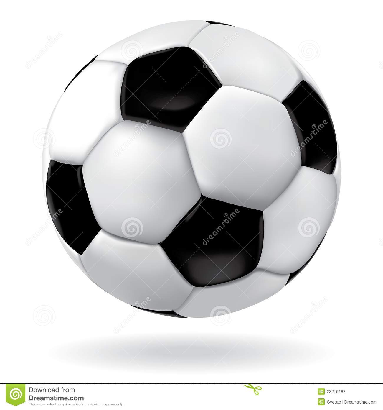 Download Soccer ball. stock vector. Illustration of shadow, game - 23210183
