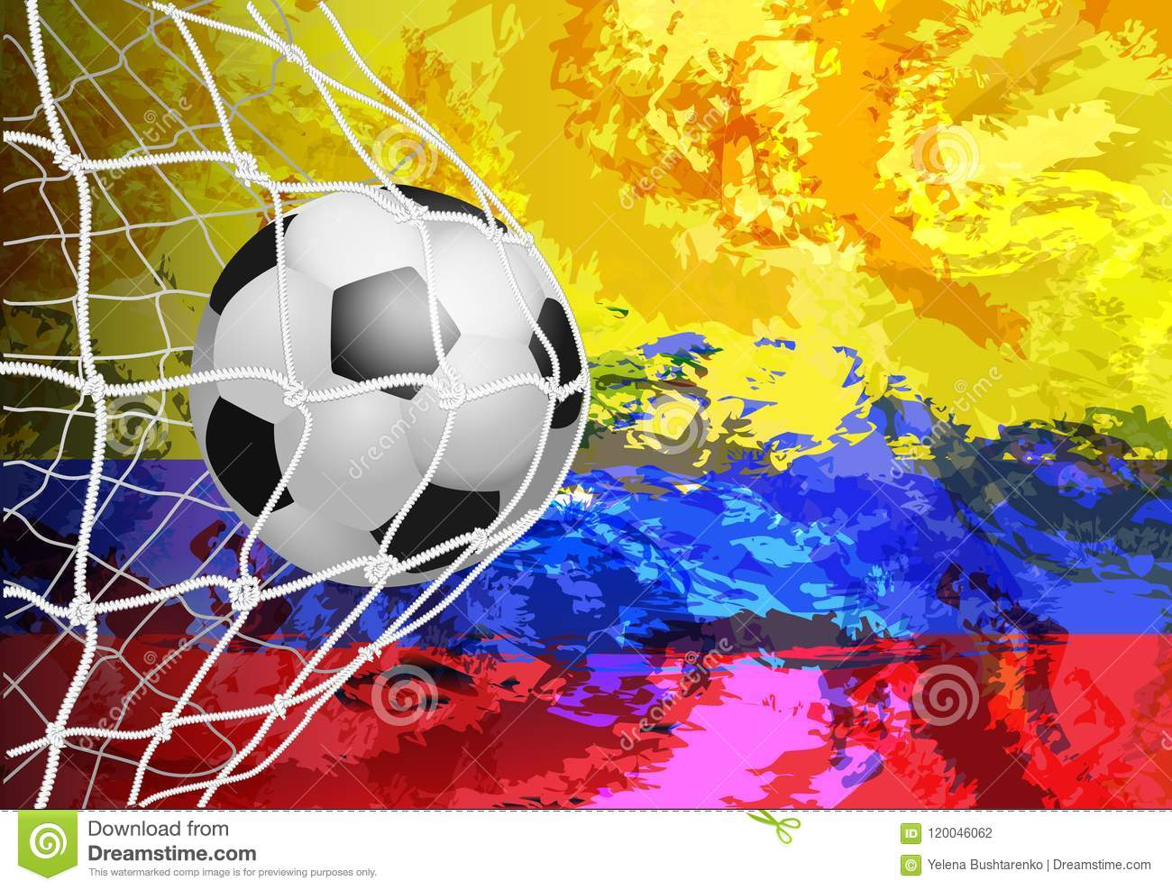 Colombia Flag Soccer Ball Futbol Football Home Business Office Sign