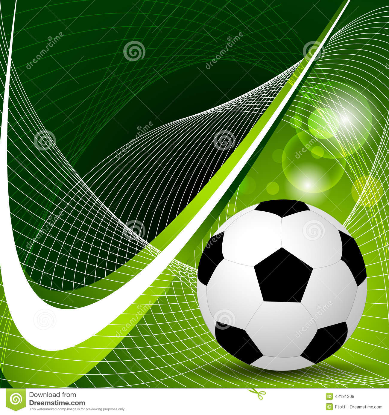 soccer ball background stock vector image 42191308