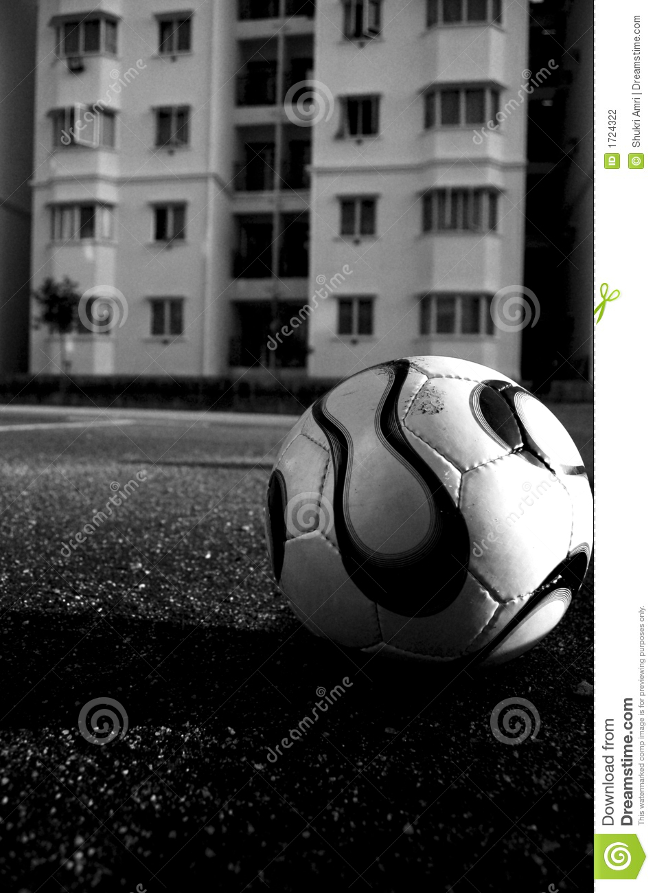 soccer ball in black and white stock photo image 1724322. Black Bedroom Furniture Sets. Home Design Ideas