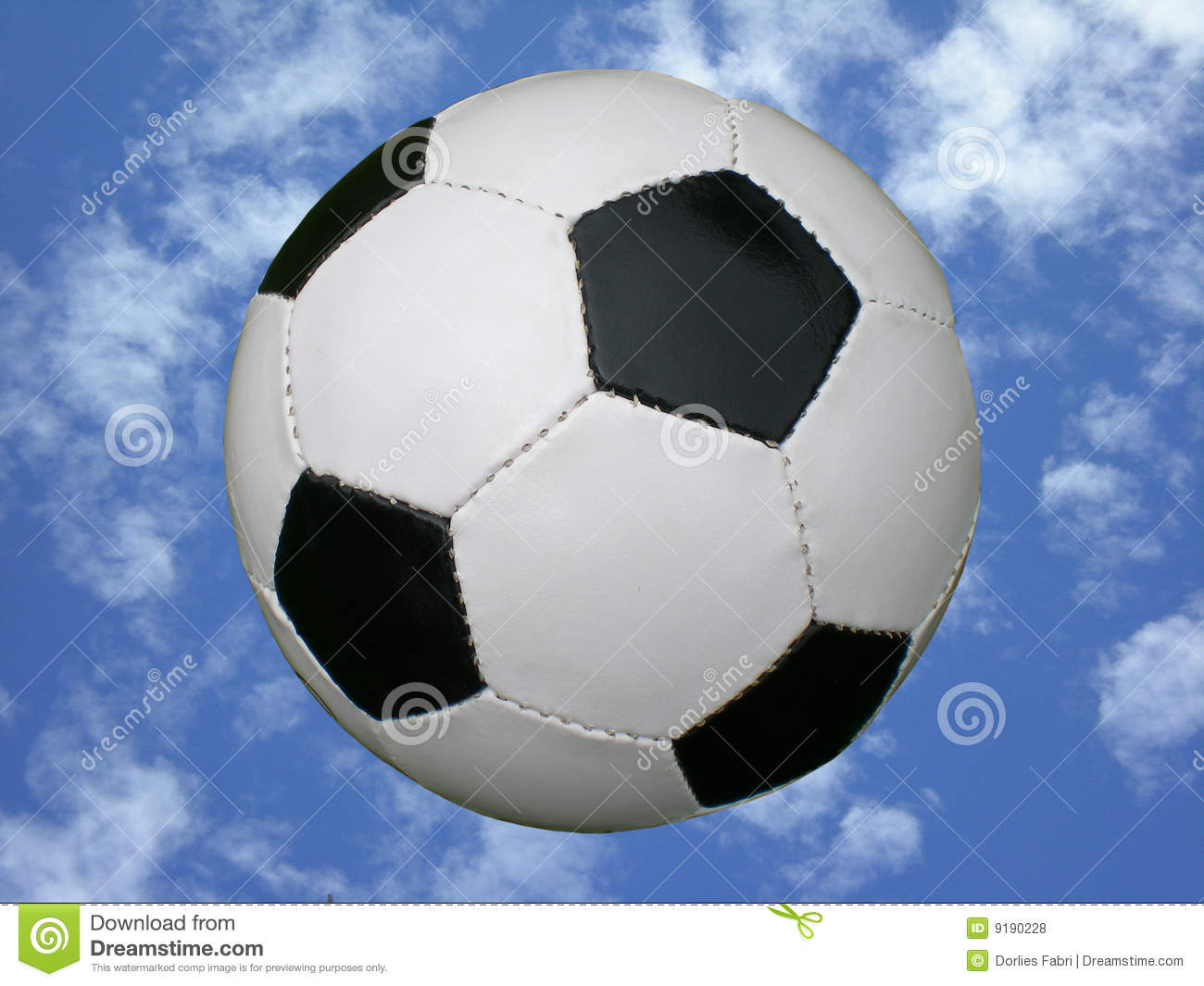 Soccer Ball In Blue Sky Royalty Free Stock Photos - Image ...