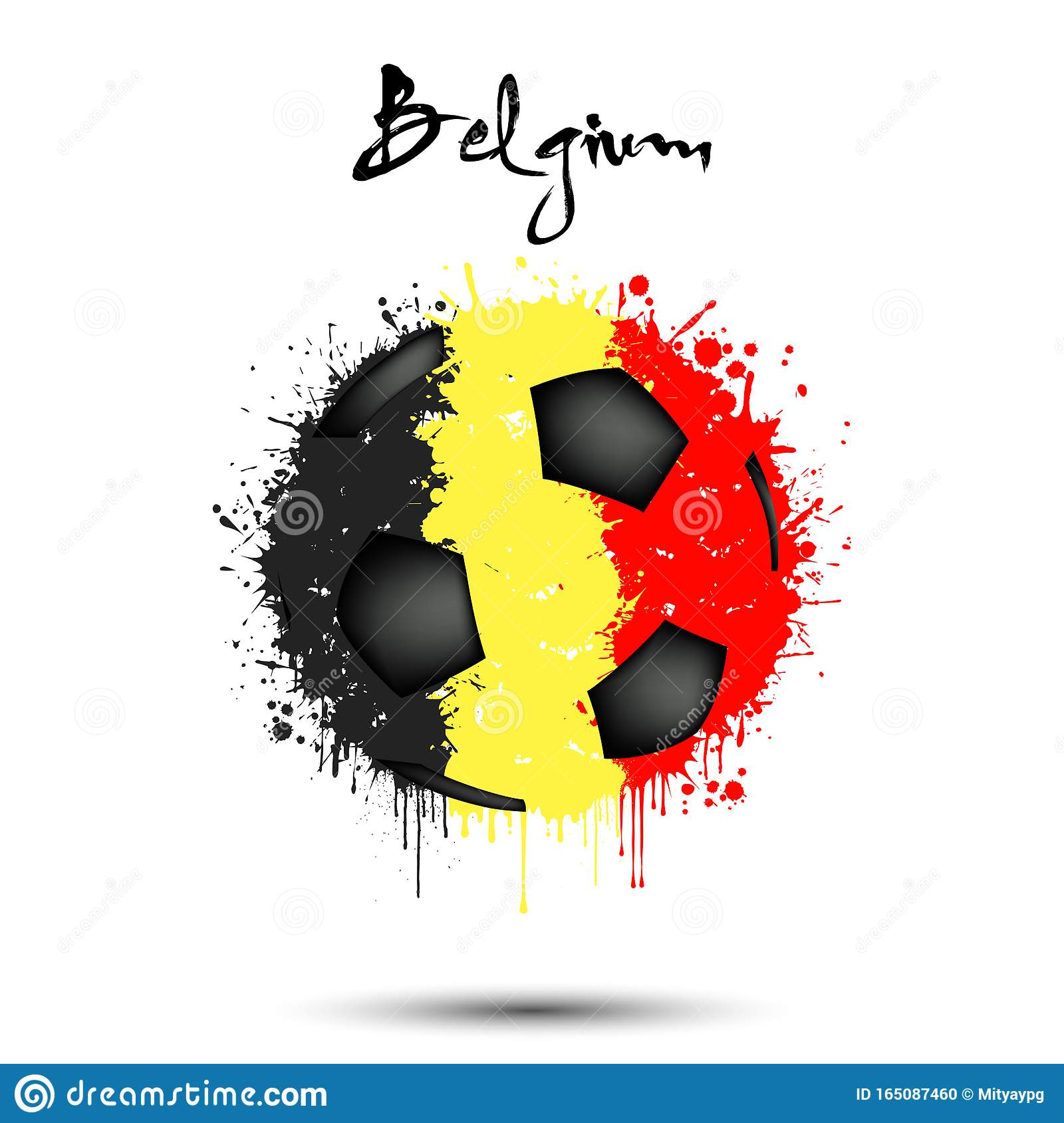 Soccer Ball In The Colors Of The Belgium Flag Stock Vector ...