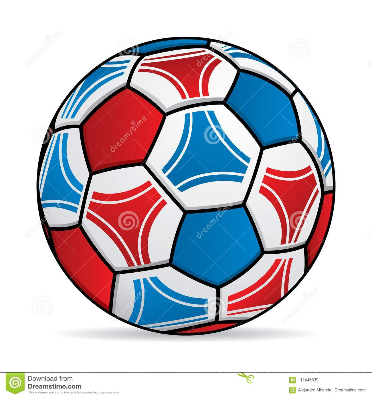 - Soccer Ball With The Colors Of The Flag Of Russia Stock Vector