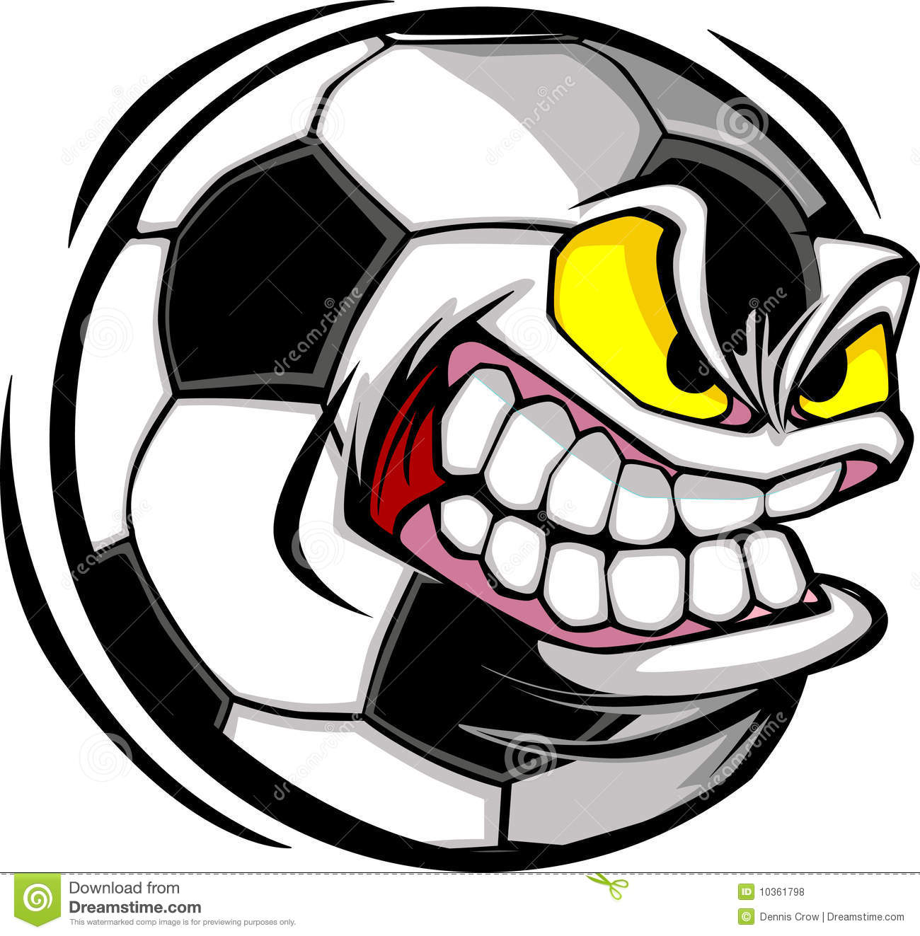 Soccer Ball Face Vector Image Royalty Free Stock Photos - Image ...