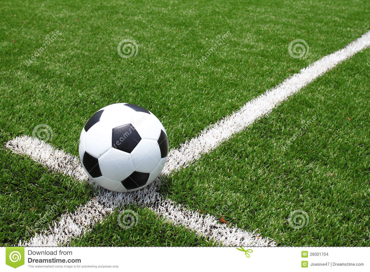 Soccer Ball On The Field Stock Images - Image: 26001704