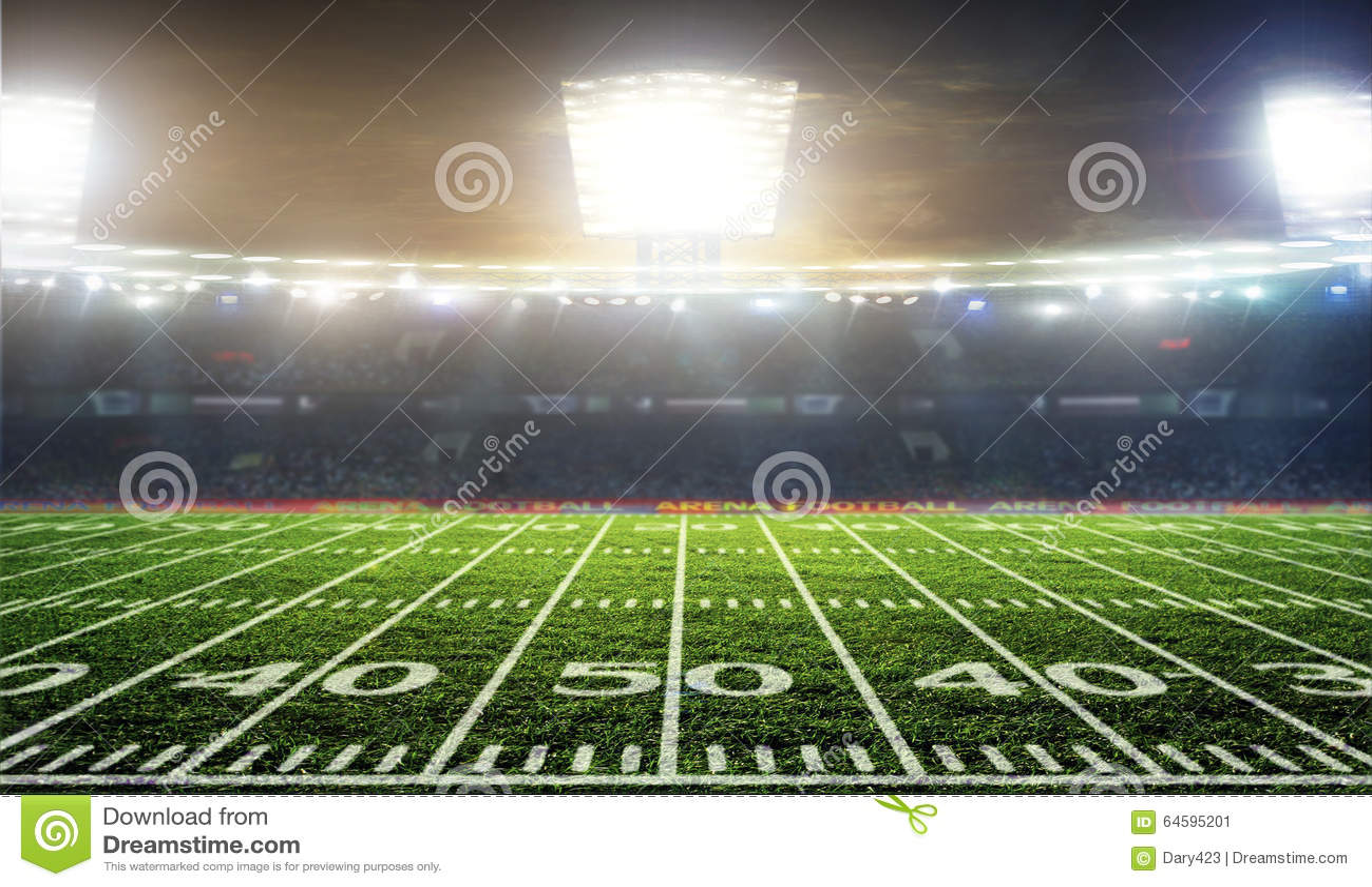 soccer ball on the field of stadium stock photo image