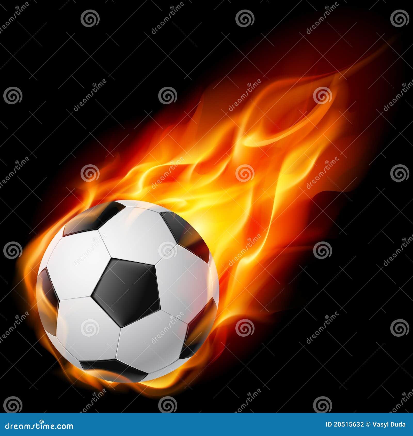Soccer Ball On Fire St...