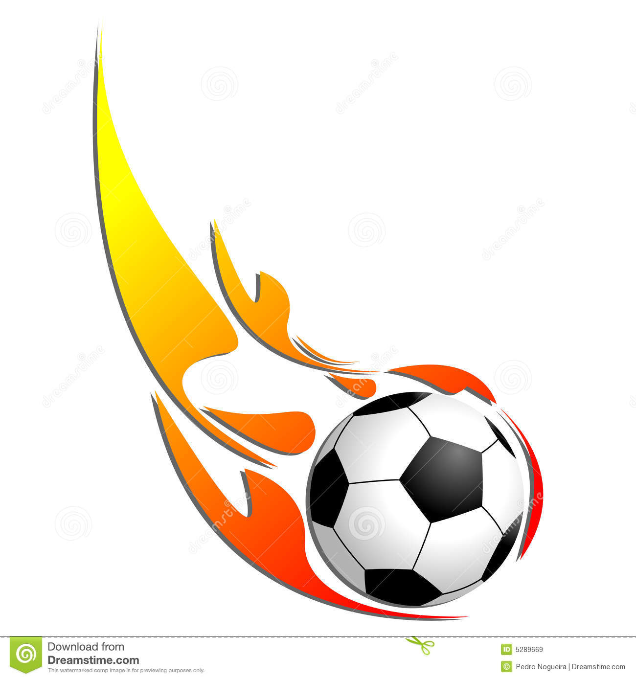 Soccer Ball On Fire Stock Images - Image: 11176064
