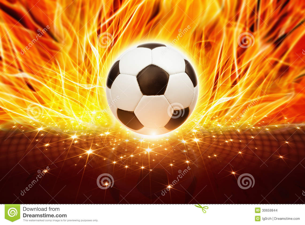 The Ball On Fire Soccer Football Sports Qhd Wallpaper 2: Soccer Ball In Fire Stock Photo. Image Of Celebration