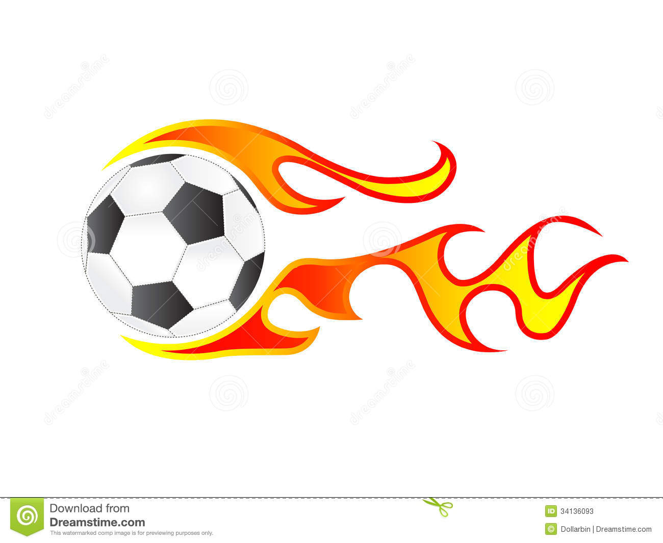 Soccer Ball In Fire Stock Images - Image: 30659844