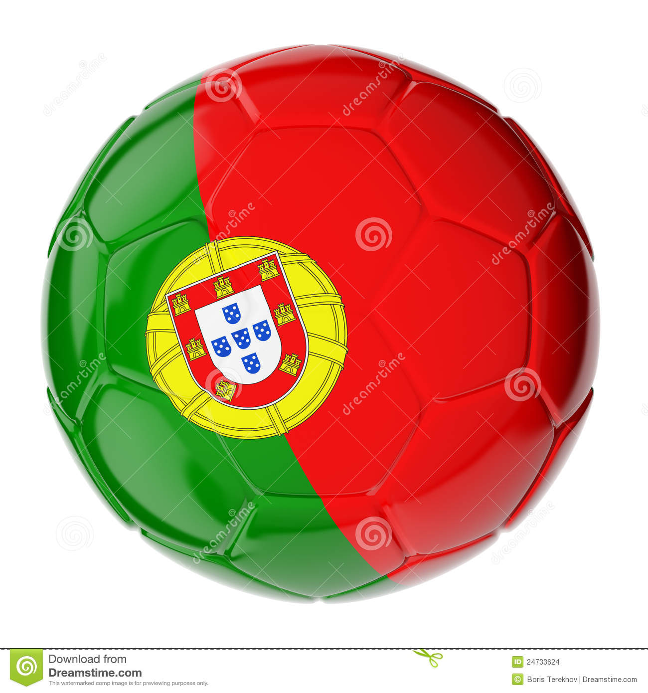 Soccer Ball Flag Of Portugal Stock Illustration Illustration Of