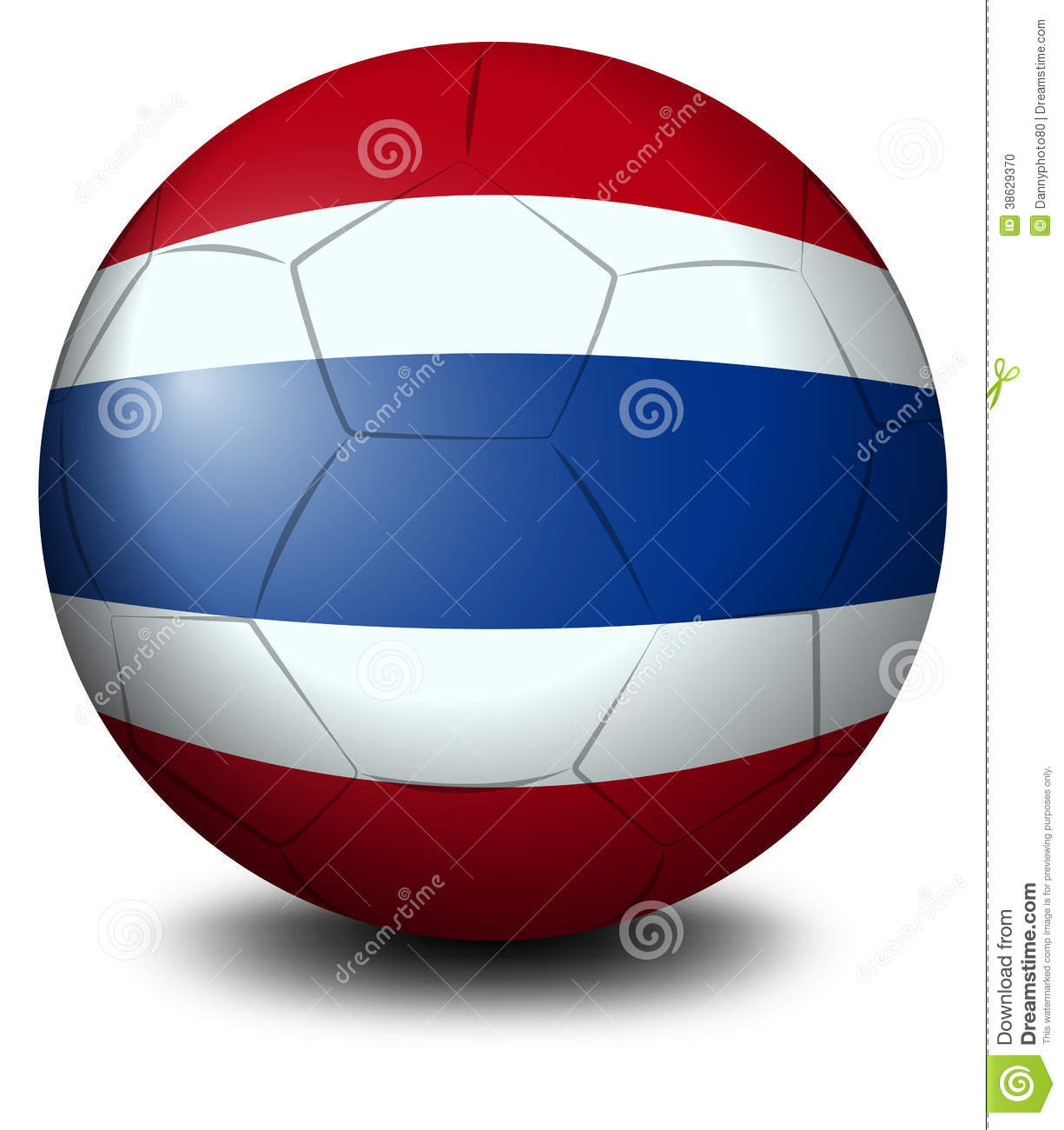 A Soccer Ball With The Flag Of Thailand Editorial Image Image 38629370