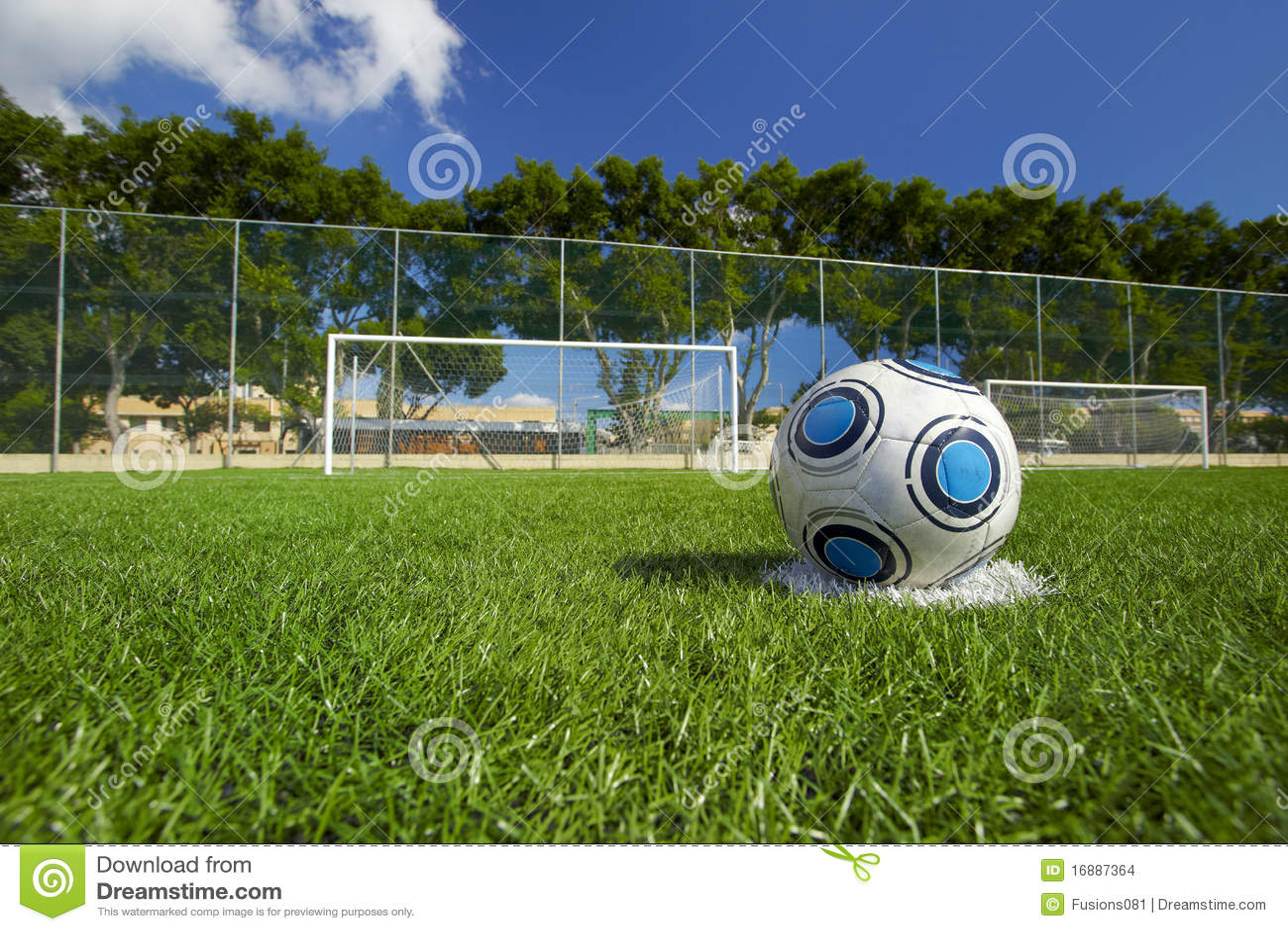Soccer Ball On Football Field Stock Photo - Image: 16887364