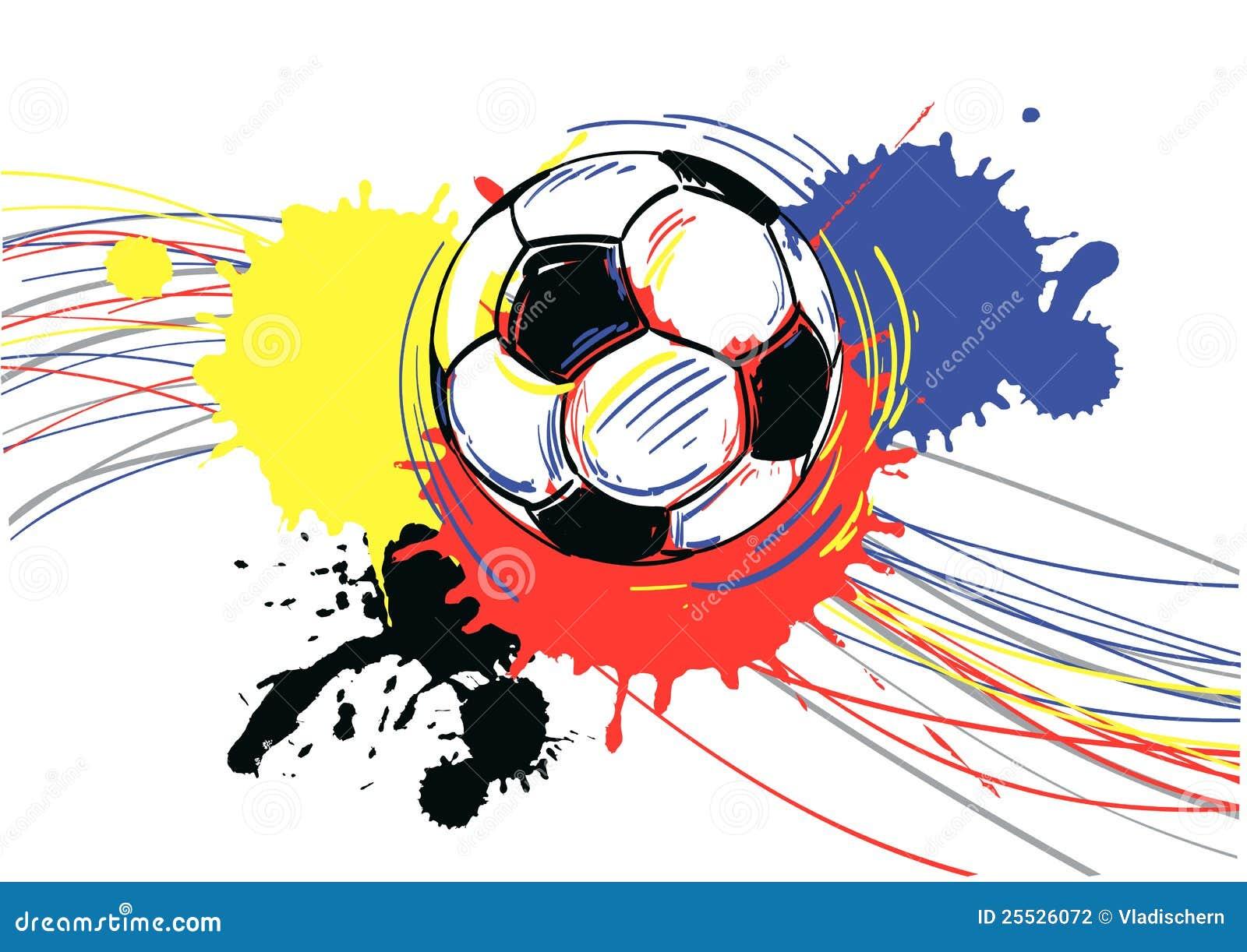 soccer ball football vector illustration illustration 25526072