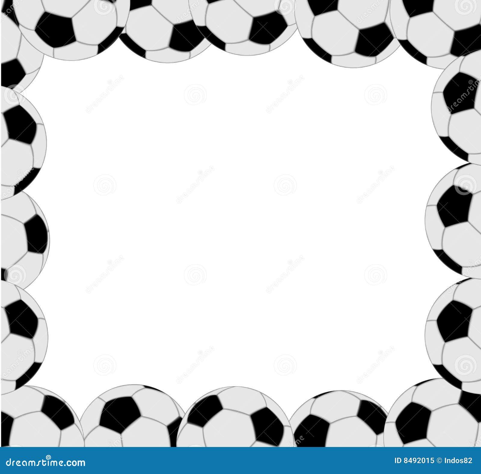 Soccer ball frame stock vector. Illustration of green - 8492015