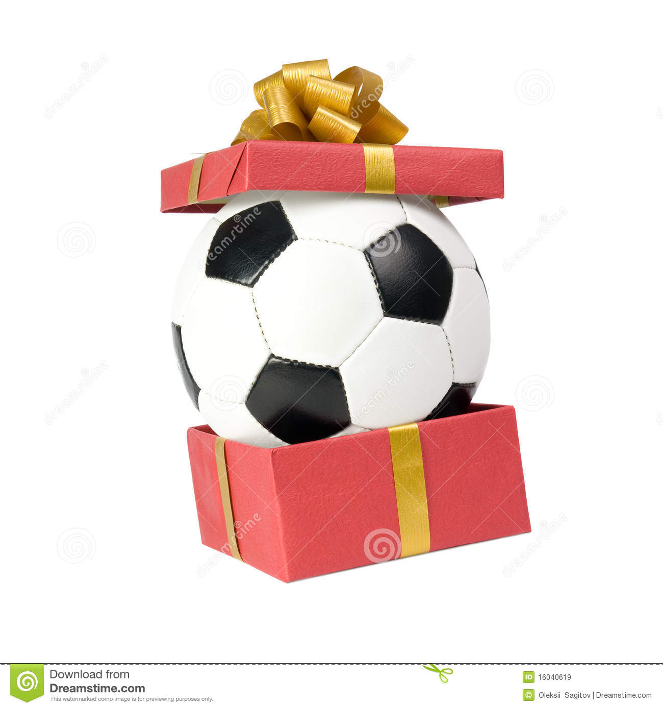soccer ball in a gift box stock image image of birthday 16040619. Black Bedroom Furniture Sets. Home Design Ideas
