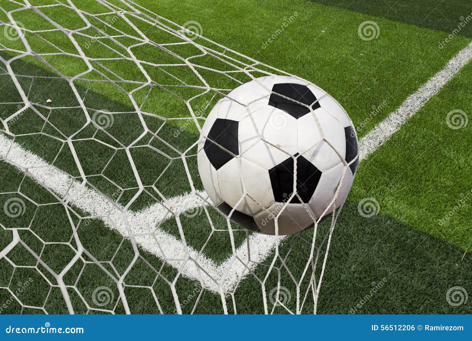 soccer ball goal cartoon vector