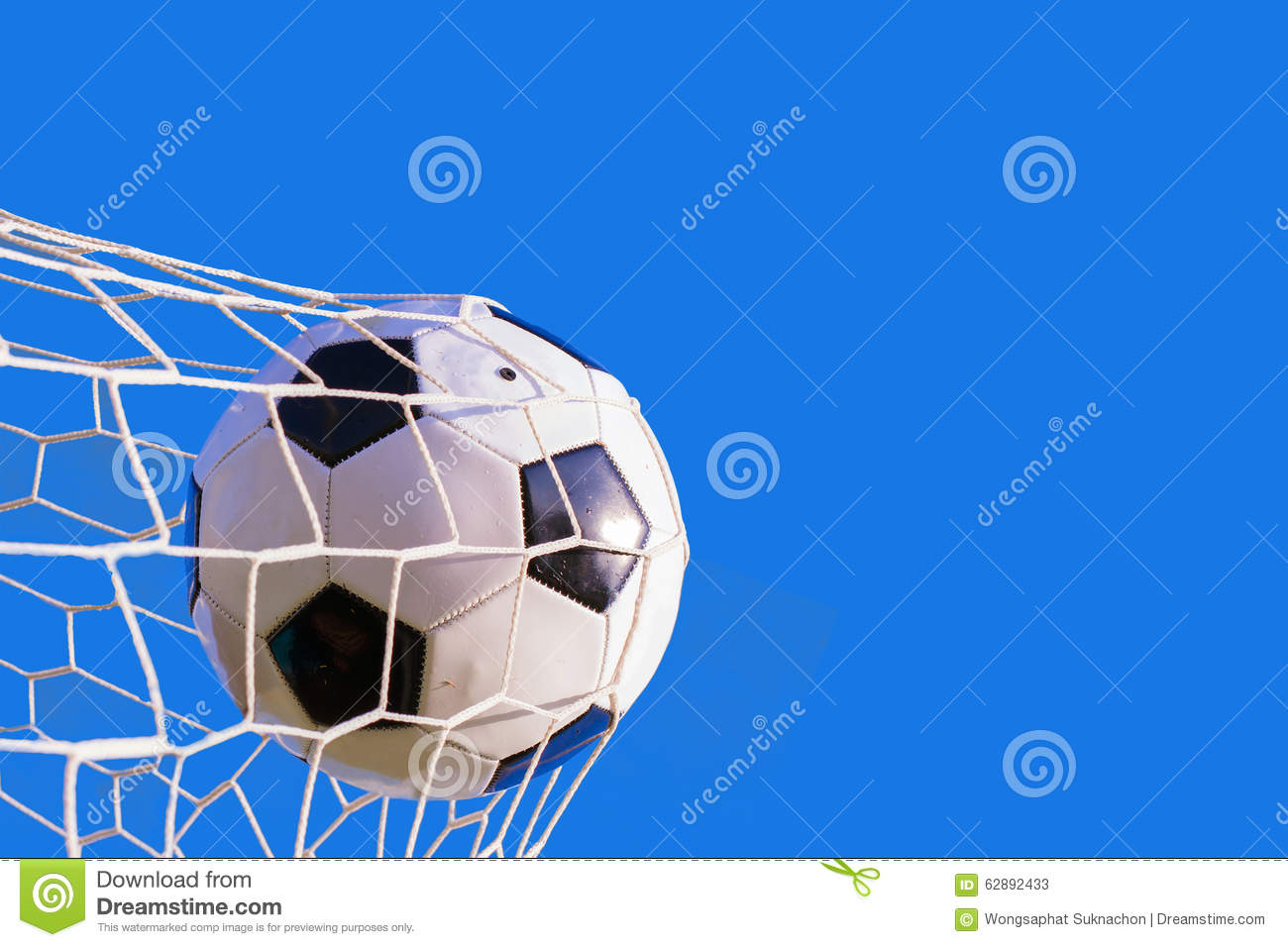 The Soccer Ball Hit Into The Net: Soccer Ball Hit The Net Stock Image. Image Of Lawn, Moving