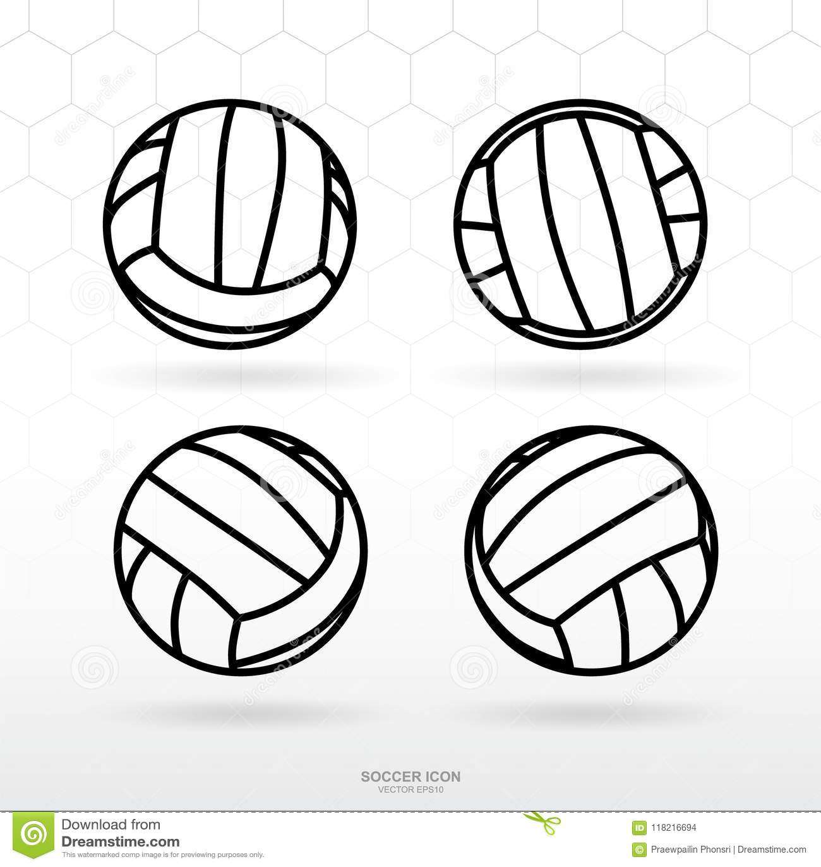 Soccer Ball Icon Set Classic Soccer Football Ball Symbol Vector