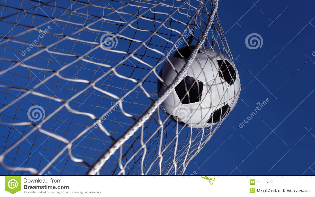 Soccer Ball Kicked Into A Goal Stock Photography - Image: 16665232